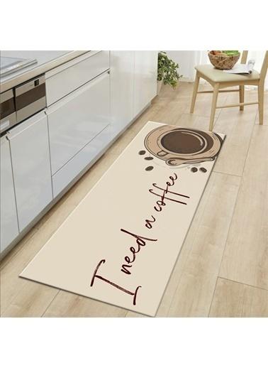 MarkaEv Kitchen 08 Mutfak Halısı 133*190cm Bej